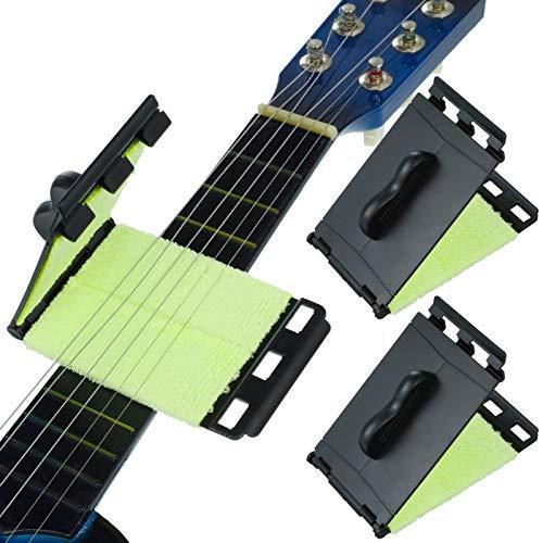 Firtink 2 Pack Saitenreiniger Gitarren, nützlich Gitarren Saite und Griffbrett Reiniger Gitarren Griffbrett Saitenreiniger Pflege Werkzeug für Gitarre
