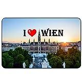 Cadora Magnetschild Kühlschrankmagnet I Love Wien VI