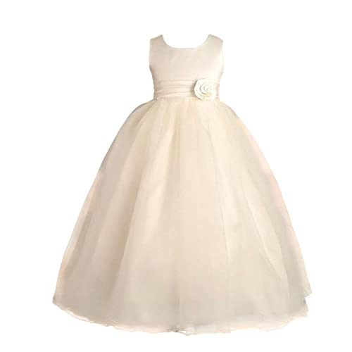 3716fb06ba0 Lito Angels Girls  Ankle Length Wedding Bridesmaid Flower Girl Dresses  Communion Occasion Dress