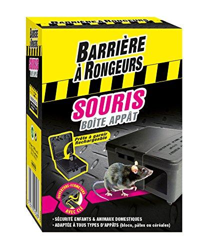 BARRIERE A RONGEURS Boîte appât Souris, Prête à garnir et rechargeable, Clé incluse, BARBOITSOU