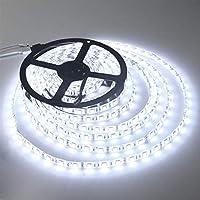 プレミアム ベッドルーム用LEDストリップライト、LEDストリップライトリモートRGBストリップSMD 2835 5050 LEDストリップライト付き プロフェッショナル&アップグレード済み (Color : Waterproof SMD2835, Size : Warm White)