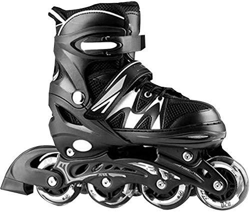 Patines en línea Patines en línea ajustables para niñas y niños niños Cuchillas de rodillos de una sola fila Profesional Zapatos de patinaje de velocidad en línea de carbono Fibra de carbono Principia