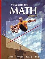 Math Course 1, Grades 6-8: Mcdougal Littell Middle School Math (McDougal Littell Math Course 1)