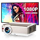 EUG 6200lumen 1080P Home Entertainment Projector HDMI USB 10W HiFi Speaker High Definition LCD Multimedia Movie Projectors for Gaming Computer DVD Player TV Stick Laptop PS4 with Zoom & Keystone