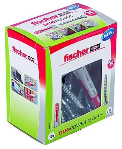 Fischer 538258 Duopower 12X60 S, Sechskant, Set de 10 Piezas