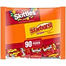 SKITTLES & STARBURST Fun Size Variety Mix, Bulk Candy For Easter Eggs, 39.1-Ounce 90 Pieces