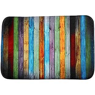 JxucTo Retro Vertical Stripes Pattern Bathroom Kitchen Floor Non-slip Absorbent Rugs Carpet Mats