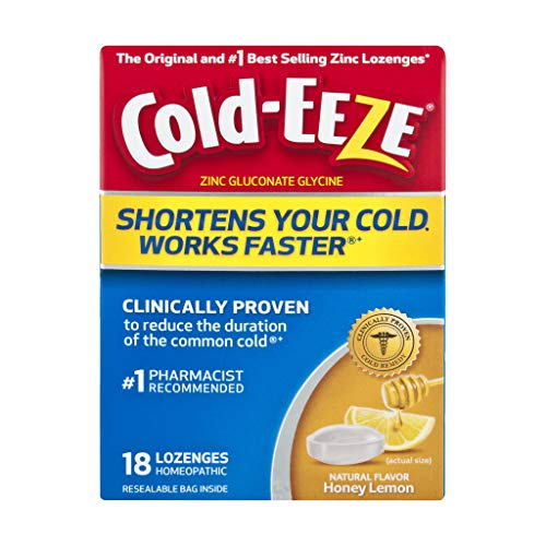 Cold-eeze Honey Lemon Lozenges Bonus Box, Blue, 24 Count