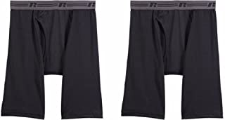Russell Mens Sport Perfromance 2-pack Long Leg Boxer Briefs Sizes S-2XL SPANDEX