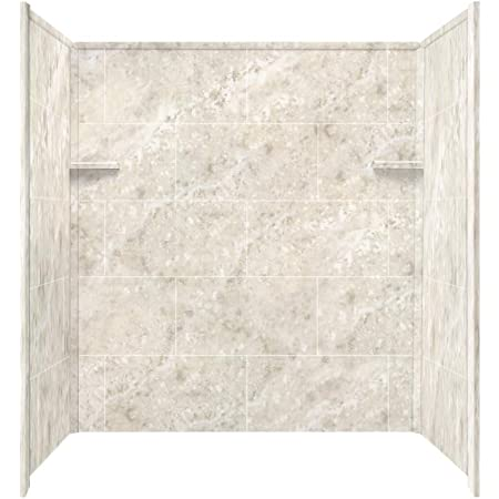 Transolid Rbe6026 91 Solid Surface Tub Shower Wall Kit 32 Inch X 60 Inch X 60 Inch White Carrara