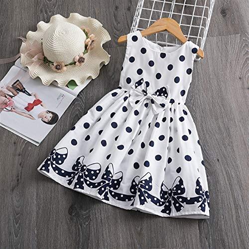 kengbi Komfortables und exquisites Kleid Kinder Kleider for Mädchen Kurzarm Kleid Pailletten Party Kostüm Fairy Sommer Puffy Kleid Regenbogen Kinder Kleidung (Color : A, Kid Size : 6)