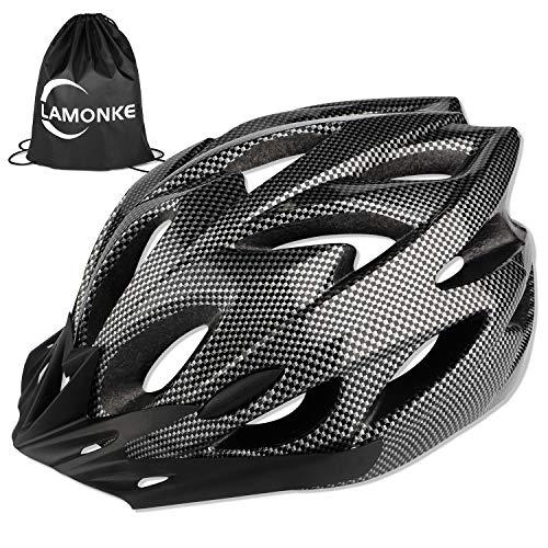 自転車 ヘルメット 大人用 高通気性 サイクリングヘルメット 超軽量 ロードバイクヘルメット サンバイザー付き 18通気ホール 自転車ヘルメット 耐衝撃 高剛性 サイズ調整可能 アゴパッド付き スポーツヘルメット 男女兼用 (ブラック)