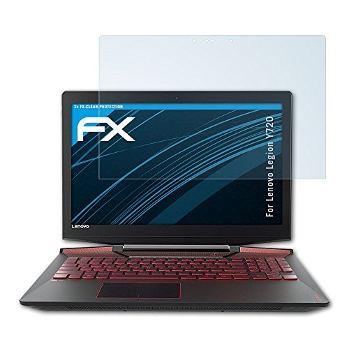 atFolix Schutzfolie kompatibel mit Lenovo Legion Y720 Folie, ultraklare FX Bildschirmschutzfolie (2X)