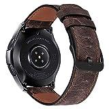 iBazal Cinturino Galaxy Watch 46mm Pelle 22mm Cinturini Cuoio Compatibile con Samsung Galaxy Watch 3 45mm/Gear S3 Frontier Classic,Huawei Watch 2 Classic/Watch GT 46mm,TicWatch Pro/E2/S2 - caffè