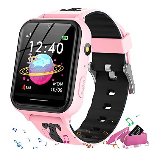 Smooce Smartwatch para Niños, Reloj Inteligente niño, Reloj Teléfono para Niña y Niño Pantalla Táctil con Música, 7 Juegos, Llamada SOS, Cámara, Linterna, Reloj Inteligente para Niños Regalo (Rosa)