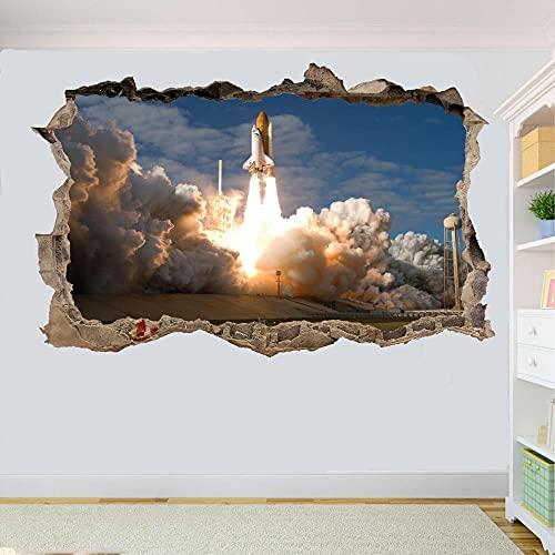 SPACE SHUTTLE LANZAMIENTO COHETE ETIQUETA DE PARED REVESTIDA DECORACIÓN DE LA HABITACIÓN MURAL - 3D - Mural impresión cartel decoración - 60x90cm