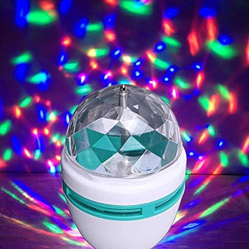 Vnockd 360 Degree Rotating LED Stage Light Crystal Bulb Magic Disco LED Light,LED Rotating Bulb Light Lamp for Disco DJ Stage Party/Home/Diwali Decoration/Dance Party