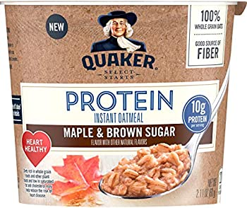 Quaker Instant Oatmeal Cup Protein Maple Brown Sugar
