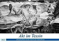 Akt im Tessin (Wandkalender 2022 DIN A3 quer): Klassische Aktbilder in verschiedenen Taelern des Tessin (Suedschweiz) mit wunderschoenen Frauen in traumhaften Naturlandschaften. (Monatskalender, 14 Seiten )