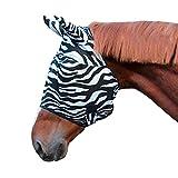 Kerbl 326120 - Maschera antimosche Zebra con protezione per le orecchie