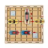 TIZJ Busy Hour Junior Traffic Jam Juego de lógica y vástago de Juguete para niños y niñas de 5 años en adelante Versión Junior Internacional (Color : Wooden Toys)