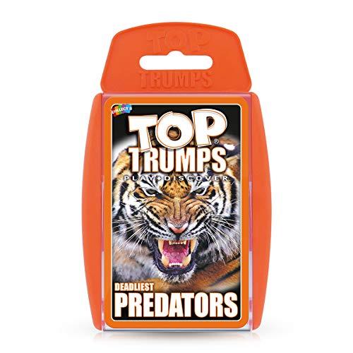 Deadliest Predators Top Trumps gioco di carte