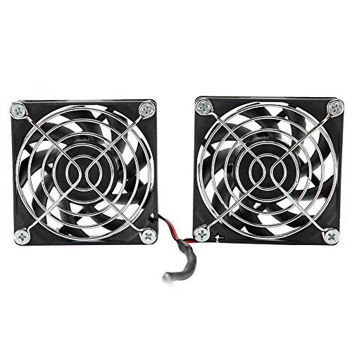 Ventilador USB de 5 V, Ventilador de refrigeración Doble de Potencia, Enfriador de Aire de disipación de Calor para ASUS RT-AC68U AC86U EX6200 para Tengda AC15