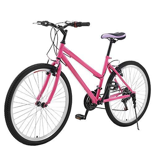 One plus one City Bike 26 Inch, Frame Urban Woman Bicycle, Carbon Steel Frame 21 Speed Shimano Retro Vintage Adult Ladies