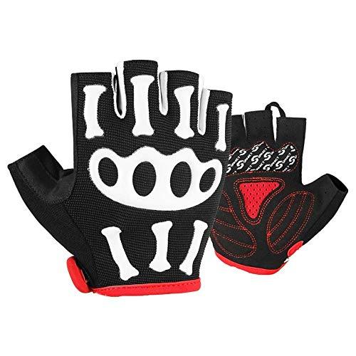 CLYGSHT Korte vingerhandschoen van mannen 3D vrouwelijke mountainbike-uitrusting, de halve vingerhandschoenen, multi-size Optioneel ridder