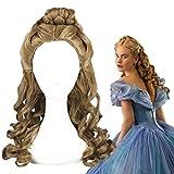 2015!! Cinderella Wig Cospla Role Play yHalloween Film Movie Sandy Princess Synthetic Hair Bun