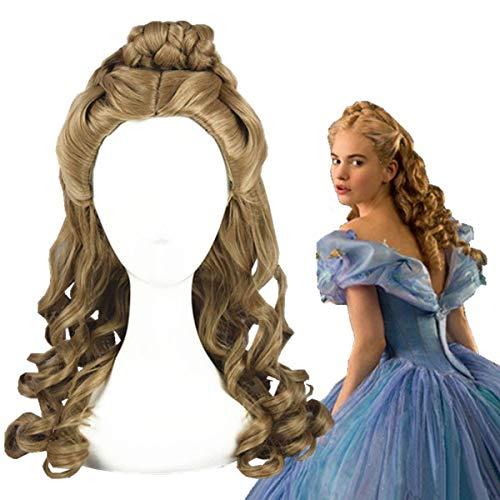 GJBXP 2015 !! Peluca de Cenicienta Cospla Juego de roles Película de Yhalloween Película Sandy Princess Bollo de pelo sintético