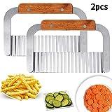 QWEPU 2pcs Kartoffelschneider, Pommesschneider, Kartoffelschneider Kartoffel Cutter Seifenschneider...