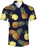 Camisa Hawaiana para Hombre Manga Corta Playa Vacaciones en la Selva Animal Disfraces Vestido de Vacaciones en Hawai