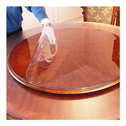 LICHUN PVC Manteles Transparente Mantel Redondo Protector De