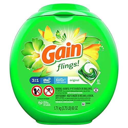 Laundry Detergent Soap Pacs, High Efficiency (HE), Original Scent, 81 Count, 1 Pack
