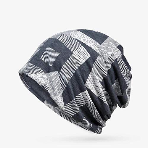 XCLWL beanie dames muts vrouwen slouchy beanie geometrisch patroon muts gebreide muts vrouwelijk mannelijk turban grijs