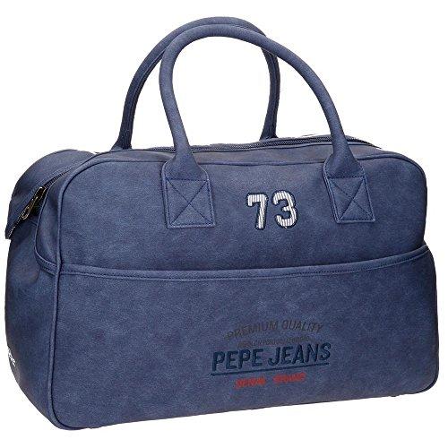 Pepe Jeans Jack Bolsa de Viaje, 50 cm, 30.4 Litros, Azul