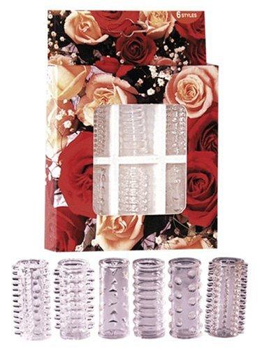 Orion 520055 Red Roses Penismanschetten (unterschiedlichen Reiz-Strukturen) 6er-Set