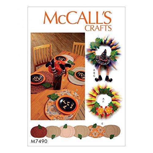 Unbekannt McCall 's Homeware Schnittmuster 7490Tischsets, Tischläufer, Hexe Hat & Beine & Kränzen