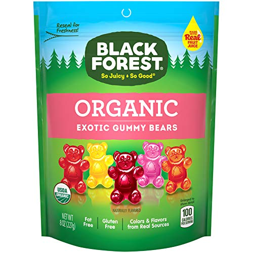 Black Forest Organic Exotic Gummy Bears 8 Ounce Pack of 6