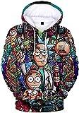 WAWNI Rick and Morty - Sudaderas con capucha 3D para mujeres/hombres Harajuku Streetwear Sudaderas con capucha Ropa de moda Rick and Morty Designs