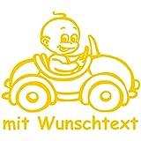 Personalisierbarer Babyaufkleber mit eigenem Wunschtext & Name selbst gestalten -...