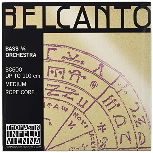 Thomastik 644660 Saiten für Kontrabass Belcanto Rope Core Orchesterstimmung, Satz 3/4 mittel für Mensur 1040-1060 mm / 41-41.7 Zoll