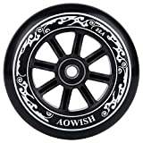AOWISH Speed Inline Skate Wheels 88A 90mm 100mm 110mm Outdoor Speed Skating Shoes Replacement Wheel with Bearings ABEC-9 and Skates Spacers (Black, 100mm (Set of 2))