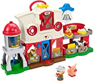 Classic Little People farm playset with lights, music, sounds, and Smart Stages learning content Press the Discovery Buttons to activate songs, sounds, phrases, barn light and fun actions Drop-through hayloft activates more fun music and sounds P...