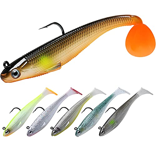 TRUSCEND Fishing Lures for Bass Trout Jighead...