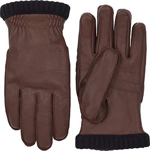 HESTRA Handschuhe Deerskin Prima Ribbed Dunkelbraun (147) 10