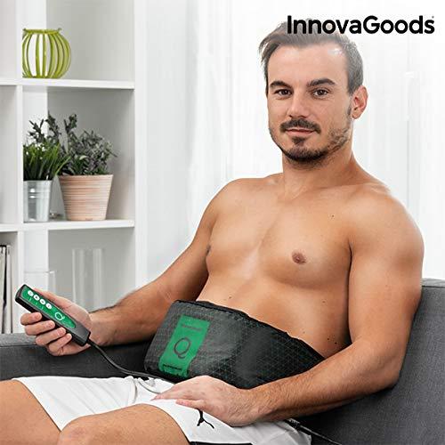 InnovaGoods Abdo Q Cinturón Vibratorio, Unisex Adulto, Negro, Talla Única