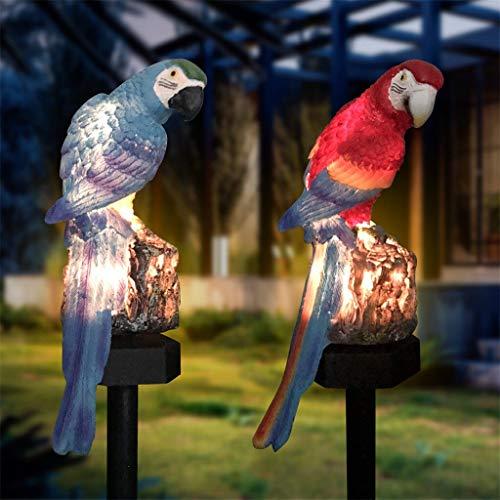 Solar Parrot Inserting Ground Landscape Light Resin Crafts Garden Light (Emitting Color : Blue)