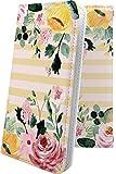 iPhone8 ケース 手帳型 花柄 花 フラワー バラ ボーダー アイフォン アイフォーン アイフォン……